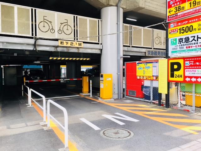 京急パーキング屋内駐車場。